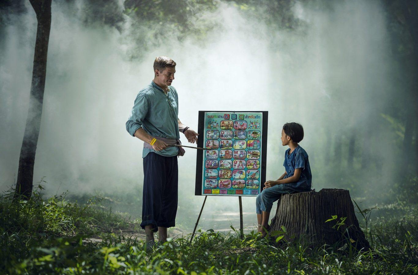森の中で教育イメージ画像